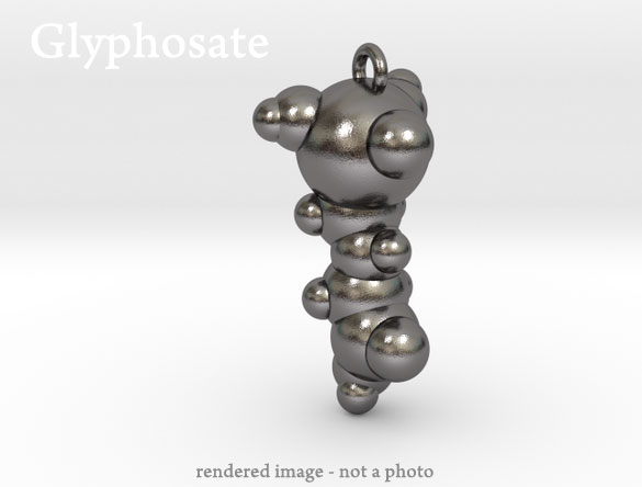 glyphosate molecule pendant jewelry