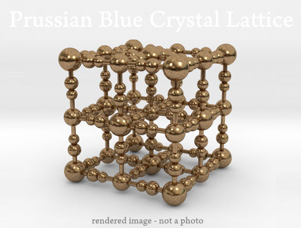 prussian blue crystal lattice